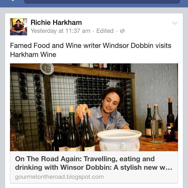 Great article Windsor dobbin at harkham wine cellar door on #wineidealisttours #Cellardoor #huntervalley